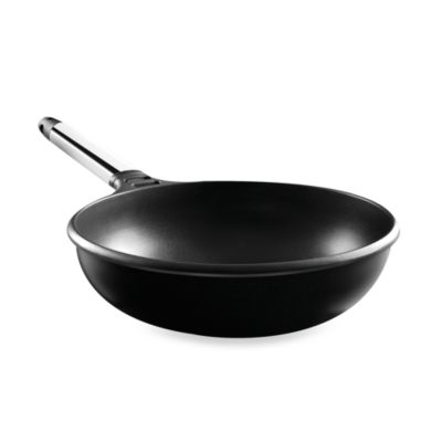 Fundix by Castey Cast Aluminum Wok in Stainless Steel