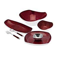 Simplydesignz Bodoni Serveware Collection in Red