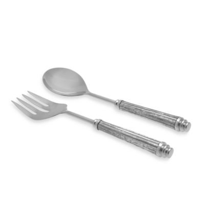 Simplydesignz Bodoni 2-Piece Salad Server Set in Silver