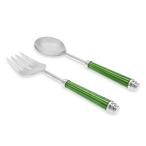 Simplydesignz Bodoni 2-Piece Salad Server Set in Apple Green