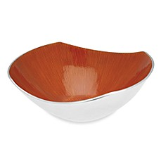 Simplydesignz Bodoni 12-Inch Bowl in Papaya Orange