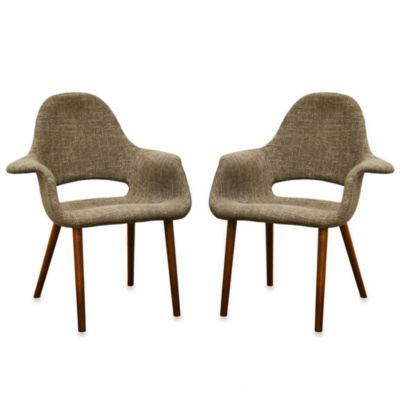 Forza Accent Chair in Taupe Twill (Set of 2)
