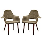 Baxton Studio Forza Accent Chair in Taupe Twill (Set of 2)