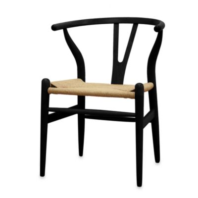 Wishbone Wood Y Chair in Black