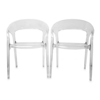 Clear Acrylic Chairs (Set of 2)