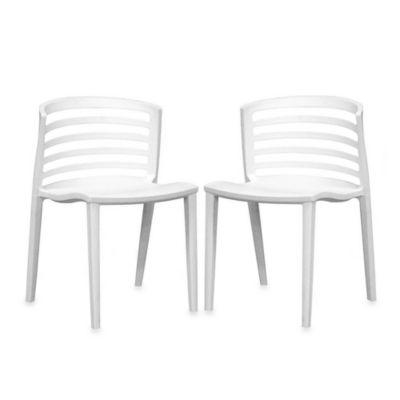 Baxton Studio Molded Chair (Set of 2)