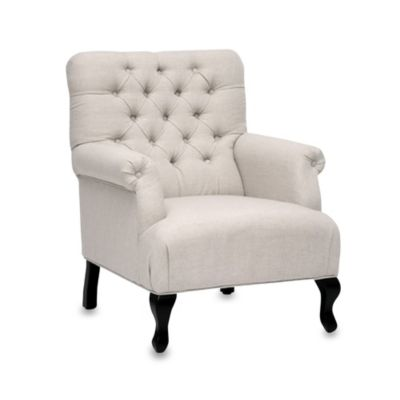 Joussard Linen Club Chair in Beige