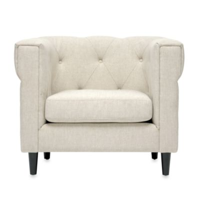 Baxton Studio Cortland Modern Chesterfield Chair