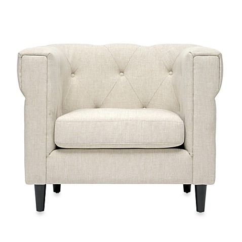 Buy cortland modern chesterfield chair from bed bath amp beyond