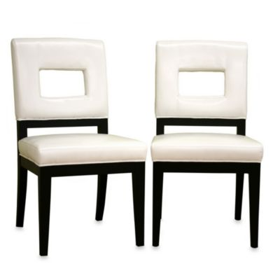 Baxton Studio Leather Dining Chair (Set of 2)