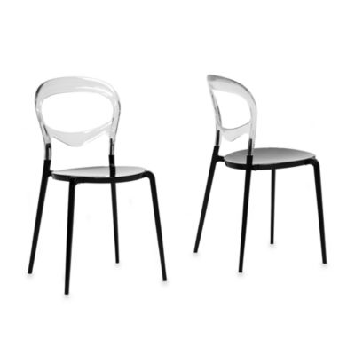 Baxton Studio Orlie Acrylic Modern Dining Chair - Set of 2