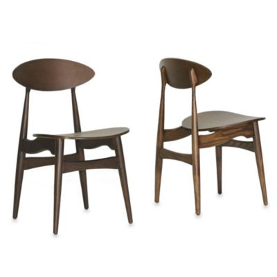 Baxton Studio Ophion Modern Dining Chair in Brown (Set of 2)