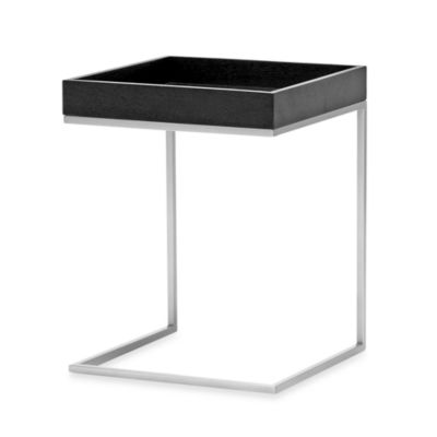 Baxton Studio Black Wood Top C Table