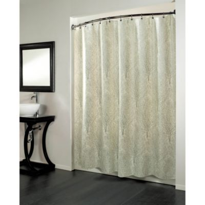 Forest 70-Inch x 72-Inch Fabric Metallic Print Shower Curtain