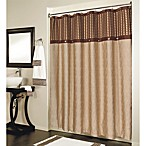 Fresno Brown Pieced Shower Curtain