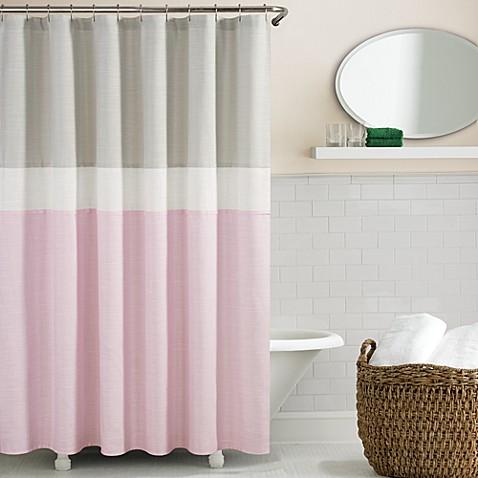 kate spade spring street shower curtain in grey bed bath beyond. Black Bedroom Furniture Sets. Home Design Ideas