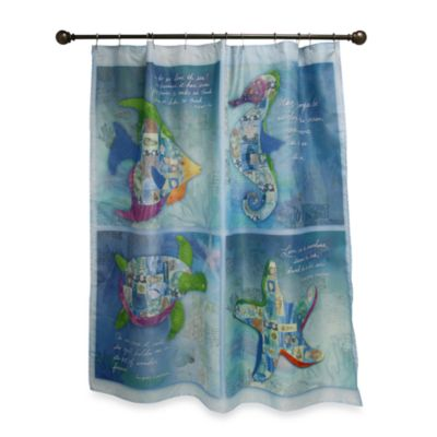 Sea Allure 70-Inch x 70-Inch Shower Curtain