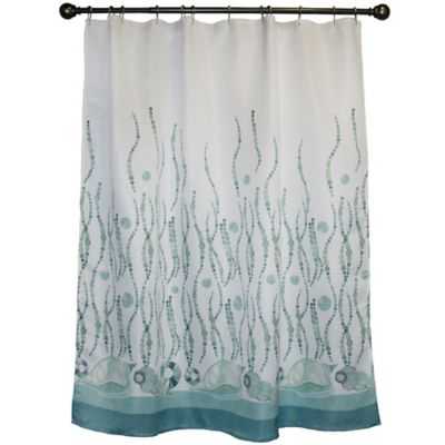 La Mer 70-Inch x 72-Inch Shower Curtain