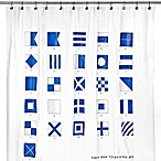 Signal Flag 72-Inch x 72-Inch Shower Curtain