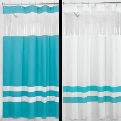 Interdesign® Hitchcock Rugby Peacock 72-Inch x 72-Inch Shower Curtain