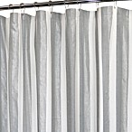 Park B. Smith Ottavia 12-Buttonhole Silver Shower Curtain