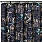 Veratex Big City 72-Inch x 75-Inch Shower Curtain