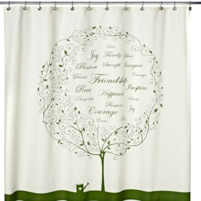 India Ink Inspiration Tree 72-Inch x 72-Inch Shower Curtain