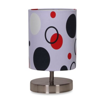 Uplight Grey Polka Dot Table Lamp