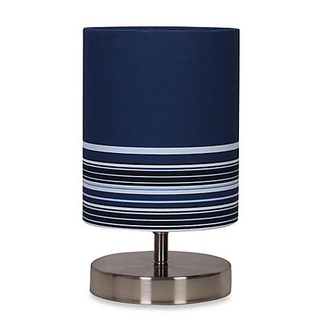Uplight Blue Stripe Table Lamp