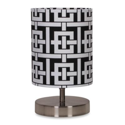 Uplight Black And White Key Print Table Lamp