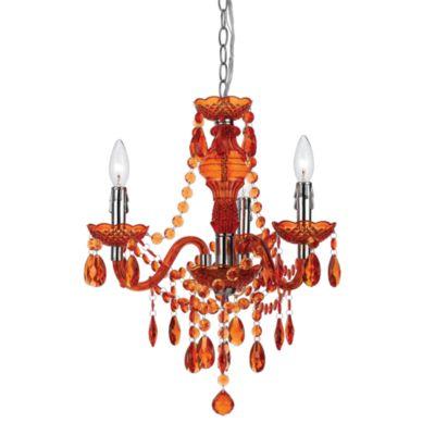 angelo: HOME Fulton Family 3-Light Chandelier in Orange