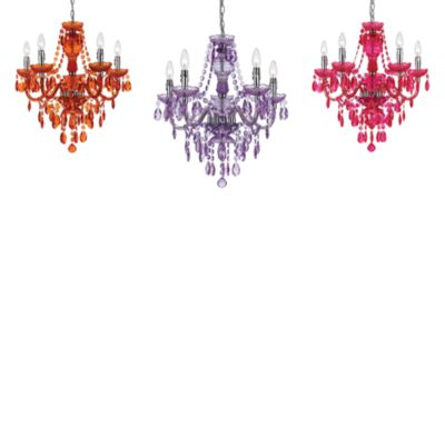 angelo: HOME Fulton Family Chandelier Lamp Purple