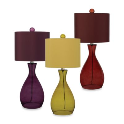 Glass Table Lamp in Purple