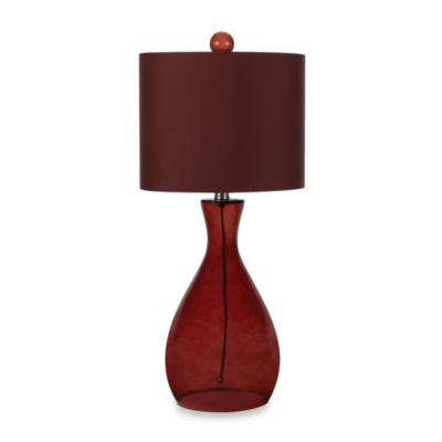 Glass Table Lamp in Red