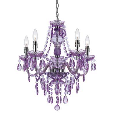 angelo: HOME Fulton Family Chandelier Lamp Purple