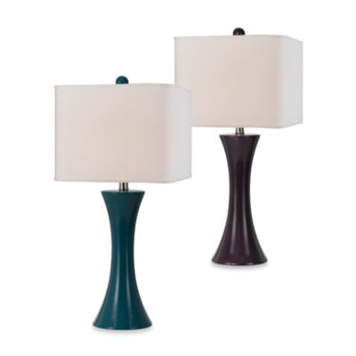 angelo:HOME Ceramic Table Lamp in Purple