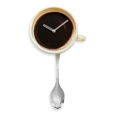 Coffee Cup Pendulum Wall Clock