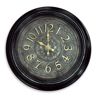 Black And Gold Detailed Clock