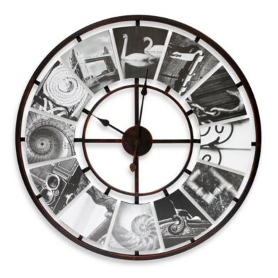 Black And White Typography Clock