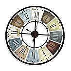 Metal Multicolor Wall Clock