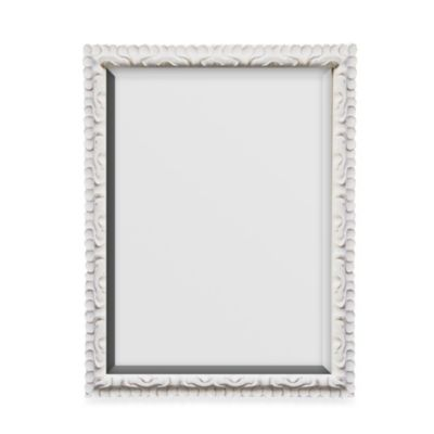 27.5-Inch x 33.5-Inch Distressed Mirror in White