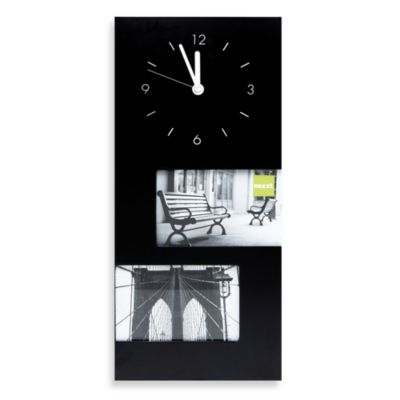 Black Photo Frame Clock
