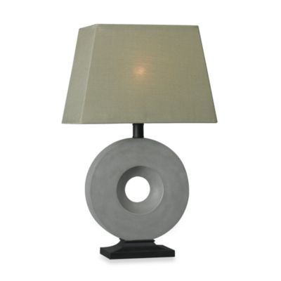 Kenroy Home Neolith Table Lamp in Grey