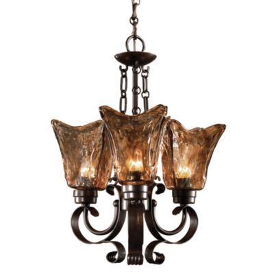 Uttermost 3-light Oil-rubbed Bronze Vetraio Chandelier