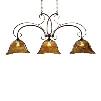 Uttermost 3-light Glass Oil-rubbed Bronze Vetraio Kitchen Island Light