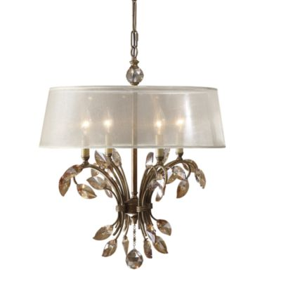 Uttermost 4-light Metal Gold Alenya Chandelier