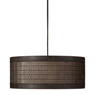 Uttermost 3-Light Metal New Orleans Drum Pendant Lamp