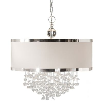 Silver with Linen Shades Home Decor