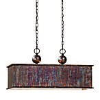Uttermost 2-Light Albiano Rectangle Pendant Lamp