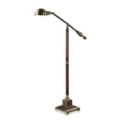 Uttermost Wood Mahogany Dalton Floor Lamp
